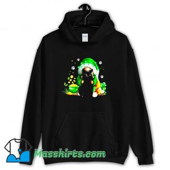 Original Irish Gnome Hugging Black Cat Hoodie Streetwear