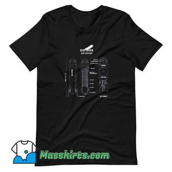 Original Shepard Rocket Blueprint T Shirt Design