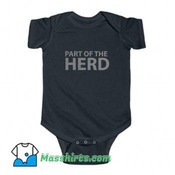 Part Of The Herd Group Baby Onesie