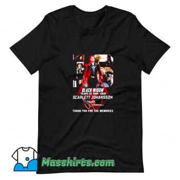 Scarlett Johansson Black Widow 16th Years Of 2004 2020 T Shirt Design