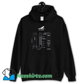 Shepard Rocket Blueprint Hoodie Streetwear
