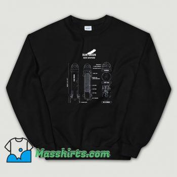 Shepard Rocket Blueprint Sweatshirt On Sale