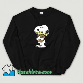 Snoopy Hugging Baby Yoda Star Wars Sweatshirt