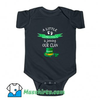 St. Patricks Day Pregnancy Announcemen August Baby Onesie