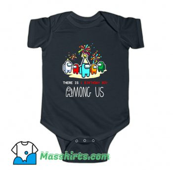 There Is 1 Brithday Boy Among Us Baby Onesie