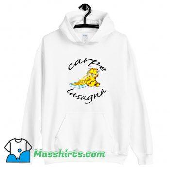 Vintage Garfield Carpe Lasagna Hoodie Streetwear