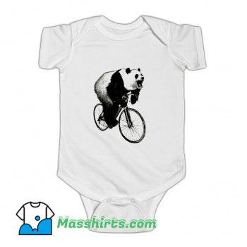 Vintage Panda Cycling Baby Onesie