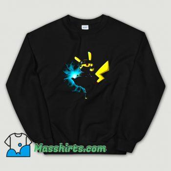 Vintage Pikachu Kakashi Pokemon Naruto Sweatshirt