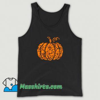 Awesome Floral Pumpkin Halloween Tank Top