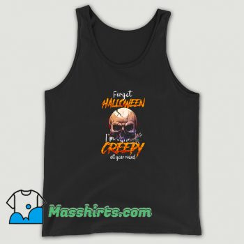 Awesome I Am Creepy All Year Round Halloween Tank Top