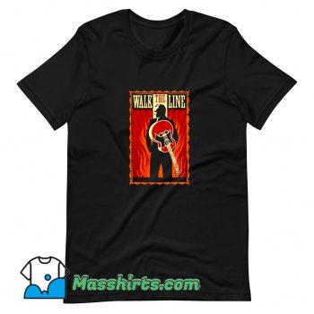 Awesome Johnny Cash Walk The Line Movie T Shirt Design