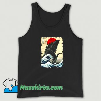 Best Godzilla and The Wave Tank Top