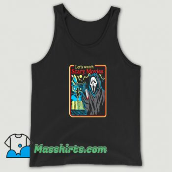 Best Lets Watch Scary Movies Halloween Tank Top