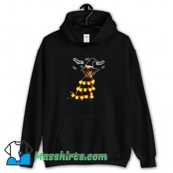 Best Pumpkin Light Halloween Witch Dog Hoodie Streetwear