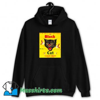 Black Cat Flashlight Crackers Hoodie Streetwear
