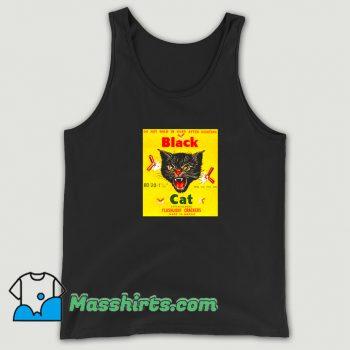 Black Cat Flashlight Crackers Tank Top