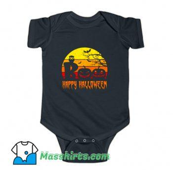 Boo Happy Halloween Baby Onesie