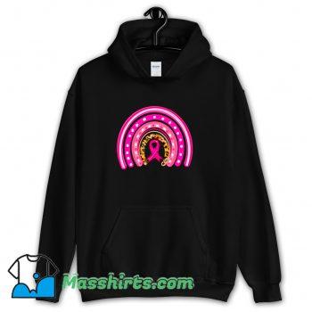 Cancer Awareness Rainbow Boho Leopard Hoodie Streetwear