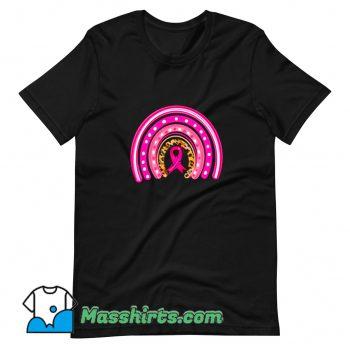 Cancer Awareness Rainbow Boho Leopard T Shirt Design