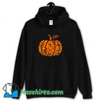 Cheap Floral Pumpkin Halloween Hoodie Streetwear
