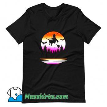 Cheap Lesbian Pride Halloween Witch T Shirt Design
