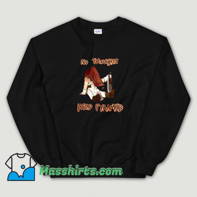 Cheap No Thoughts Head Pyramid Sweatshirt