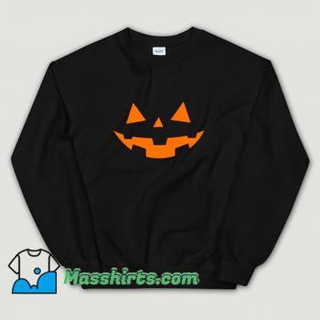 Cheap Scary Pumpkin Face Halloween Sweatshirt