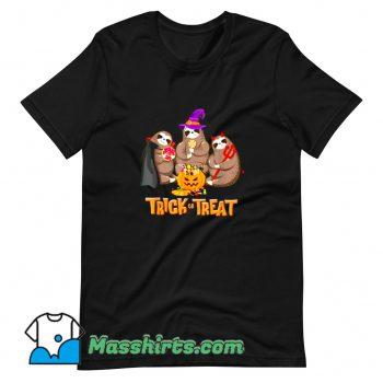 Cheap Sloth Trick Or Treat Happy Halloween T Shirt Design