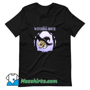 Classic Halloween Cartoon Darkness Old Witch T Shirt Design