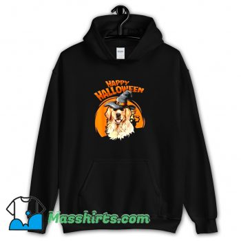 Classic Happy Halloween Witch Dog Lovers Hoodie Streetwear