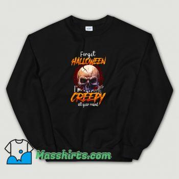 Classic I Am Creepy All Year Round Halloween Sweatshirt