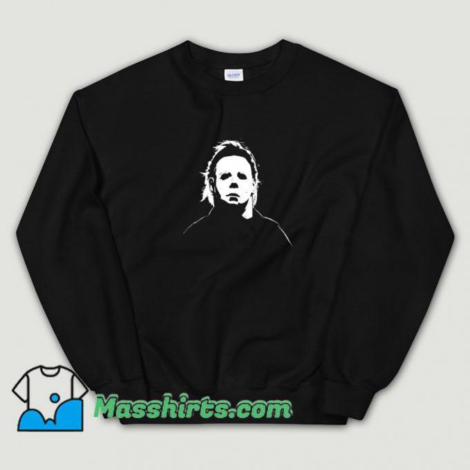 Classic Michael Myers Mask Halloween Sweatshirt