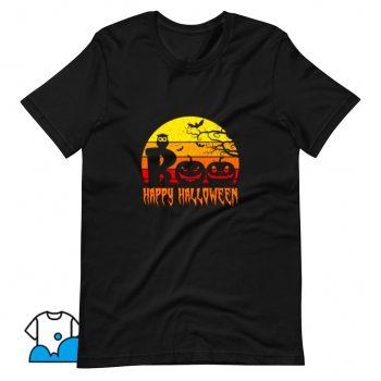 Cool Boo Happy Halloween T Shirt Design