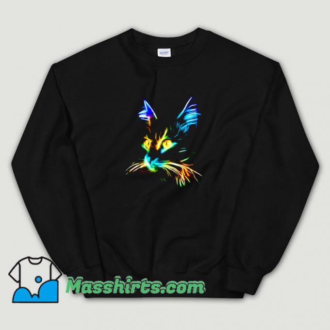 Cool Inspirational Cat Colourfull Sweatshirt