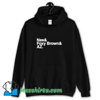 Cool The Firm Nas and Foxy Brown AZ Hoodie Streetwear