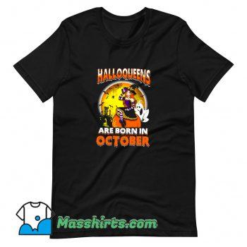Cute Halloqueens Are Born In October T Shirt Design