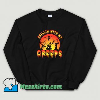 Cute Halloween Chillin With My Creeps Sweatshirt