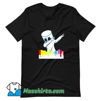 Cute Marshmallow Dancing DJ T Shirt Design