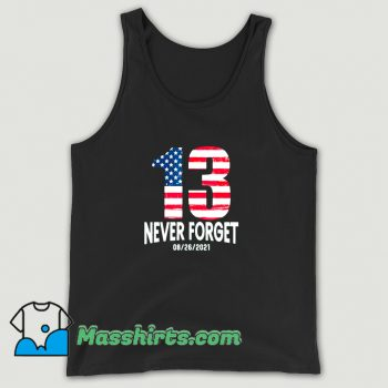 Cute Never Forget 13 American Flag Tank Top