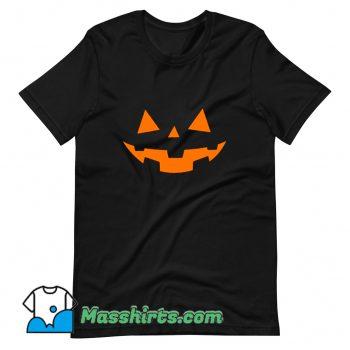 Funny Scary Pumpkin Face Halloween T Shirt Design