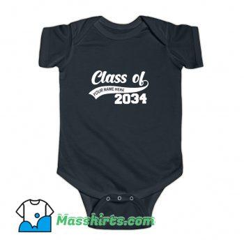 Graduation Class Of 2034 Baby Onesie