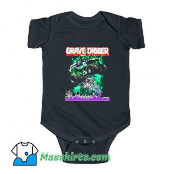 Gravedigger Monster Truck Baby Onesie