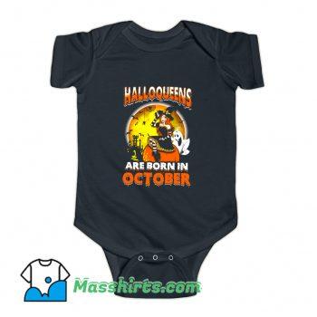 Halloqueens Are Born In October Baby Onesie