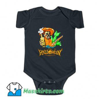 Happy Halloween Party Skeleton Baby Onesie