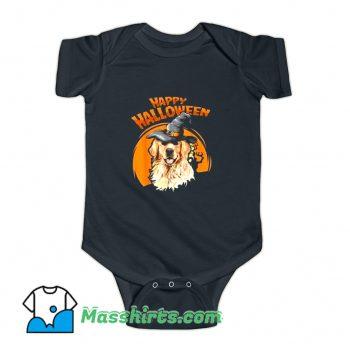 Happy Halloween Witch Dog Lovers Baby Onesie