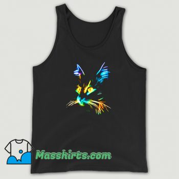 Inspirational Cat Colourfull Tank Top On Sale
