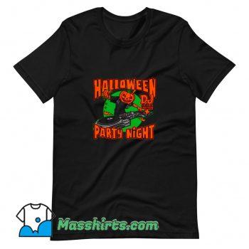 Jac o Lantern Dj In Music Disco Halloween T Shirt Design