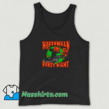 Jac o Lantern Dj In Music Disco Halloween Tank Top