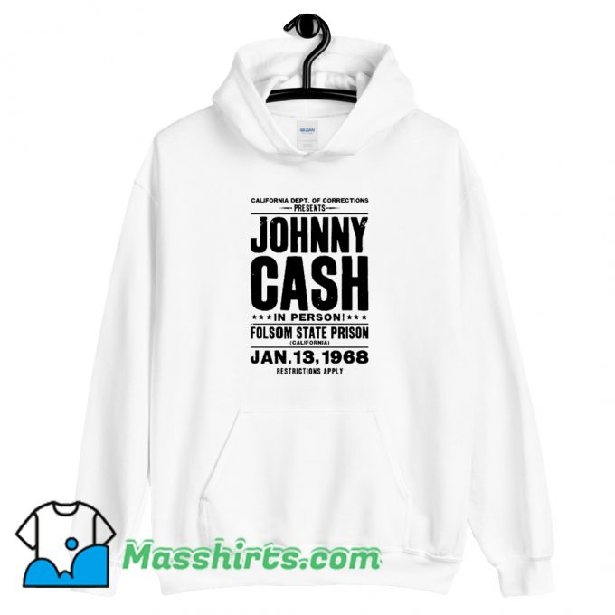Johnny Cash In Person Folsom State Prison Hoodie Streetwear
