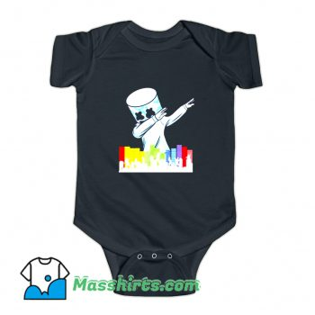 Marshmallow Dancing DJ Baby Onesie